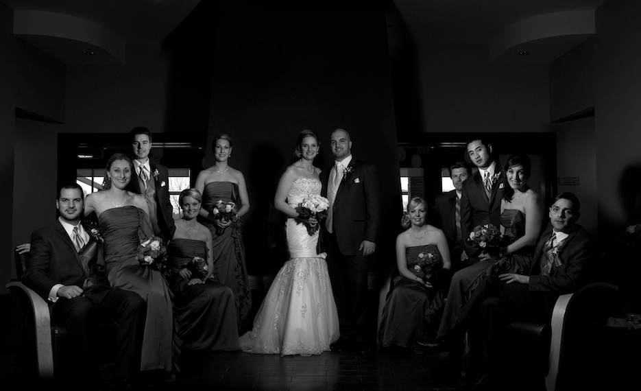 flash composite bridal party london wedding photographer